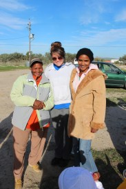 Michelle's coats have found two new homes in Varkplaas.