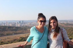 Lauren & Libby with Pretoria in background