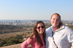 Aubrie & Steph with Pretoria in background