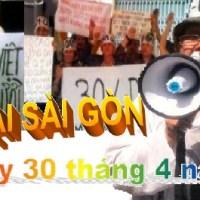 TIN NÓNG NHẤT NGÀY 30/4/2014 BIỂU TÌNH CHỐNG ĐẢNG CS TẠI SÀI GÒN