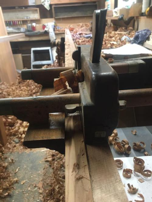 One of the moulding planes, a fenced rebate plane