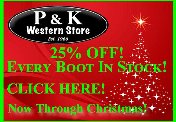 P&K Western Wear Christmas 2018