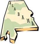 alabama drawing of state featured