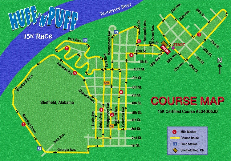 Huff 'N Puff on the Bluff 15k and 5k @ Sheffield Recreation Center