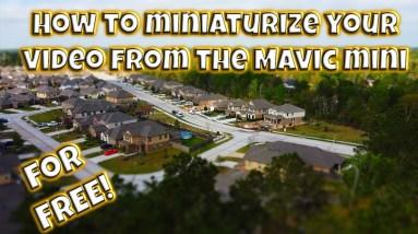 How to miniaturize your DJI Mavic Mini video (or any drone)