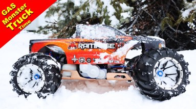 It snowed again. Time for the Gas Monster Truck!  Redcat Rampage MT V3