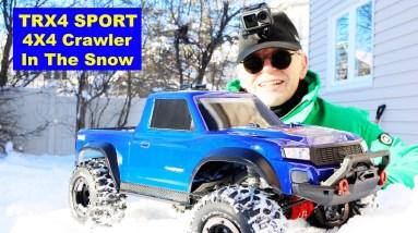 Winter TRX4 Sport in the Snow - Backyard Fun
