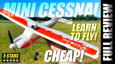 How to Fly an RC Airplane - Eachine Mini Cessna RTF - REVIEW & BEGINNER TUTORIAL 2021 🏆
