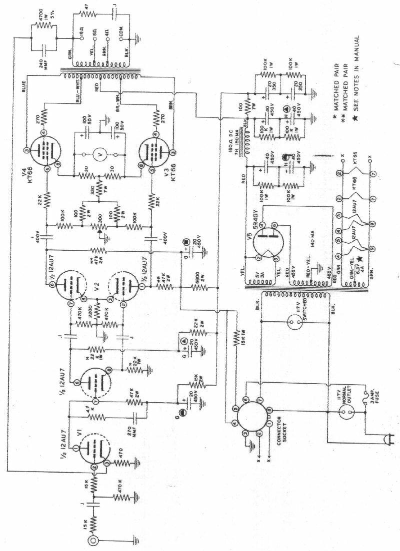 Heathkit W5-M Amplifier