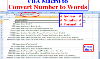 How to convert Numbers to Words in Indian Currency Format