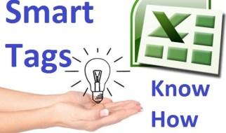 Excel Smart Tag
