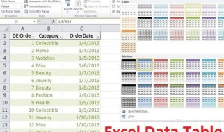 Excel's table object
