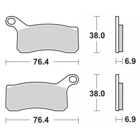Remblokken KTM 450/525 XC Sport 08-10 vooraan.