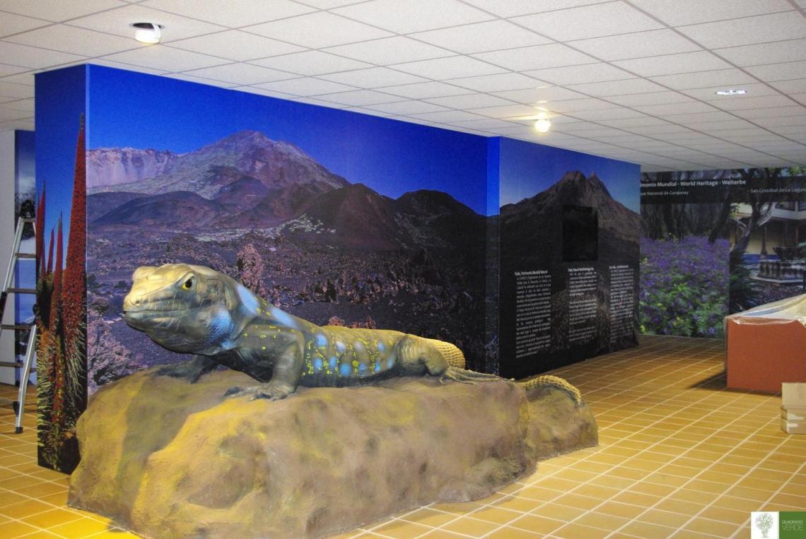 C. Interpretación El Teide, Tenerife.