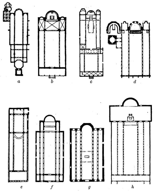 small resolution of 232 a number of early basilicas in the roman empire and middle east as given by walter lowrie 1906 to indicate the variety of divisions and extensions