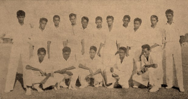Back row - (left to right) – Percy Perera, Sanath Jaywardene, Winston Dissanayake, Ranjit Perumal, Allan Gunasekera, Nihal Amerasinghe, Elmo Rodrigopulle (Captain), Cyrill Ernest, Nihal Fernandopulle, Chandra Ramanathan, Cecil Saverimuttu Front row - (left to right) – Nihal Sousa, Ranjit Fernando, Fred Silva, Gordon Dissanayake, Quintus Perera This team produced; three leading Medical Professionals Dr. Ramjit Perumal, Dr. Cyril Ernest and Dr. Cecil Saverimuttu. Two prominent Financial & Banking experts Nihal Fernandopulle advisor World Bank & IMF and Dr. Nihal Amerasinghe first Director General at Asian Development Bank, two Sri Lankan Cricketers Ranjit Fernando and Dr. Cyril Ernest.