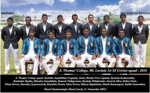 S.Thomas' College Mt. Lavinia 1st XI 2016