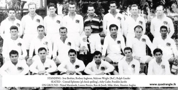 All Ceylon Rugger team 1957