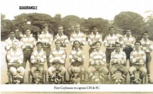 CH & FC 1966 Rugger Team - captain Lorenz Pereira