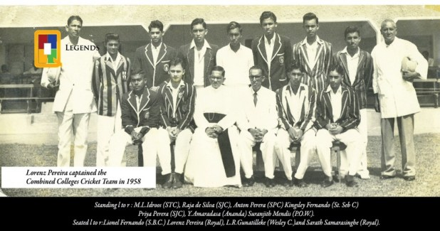 Combined College Cricket team 1958 - Ceylon (now Sri Lanka)