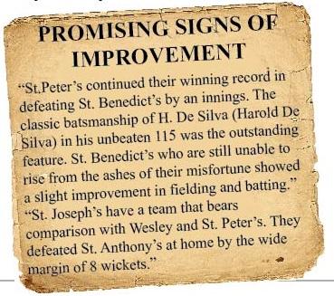 1947 St. Benedict's Vs St. Peter's post match article