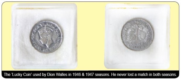 The 'Lucky Coin' used by Dion Walles