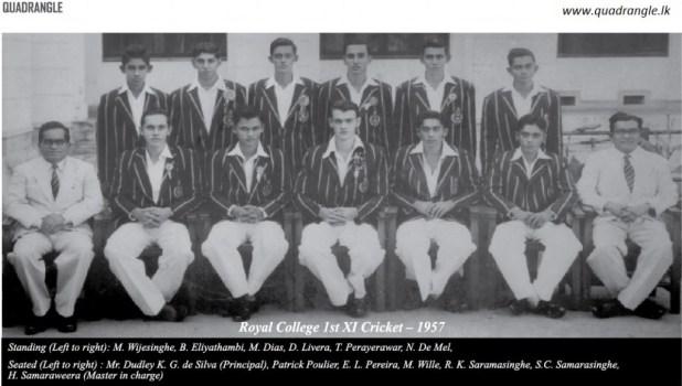 Royal College 1957 1st XI Cricket team