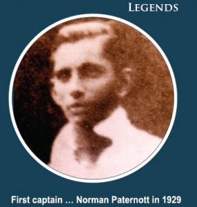 First Cricket Captain of St. Peter's Norman Paternott 1929