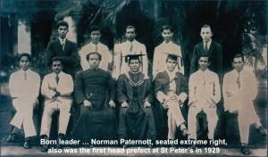 Norman Paternott first Peterite Head Prefect -1929