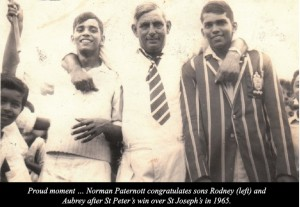 Norman Paternott with Rodney and Aubrey