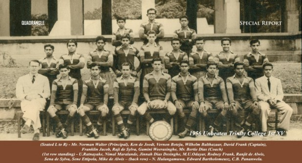 Trinity College Rugby 1st XV 1956