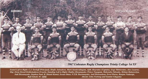 Trinity College Rugby 1st XV 1967