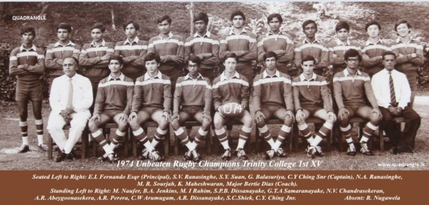 Trinity College Rugby 1st XV 1974