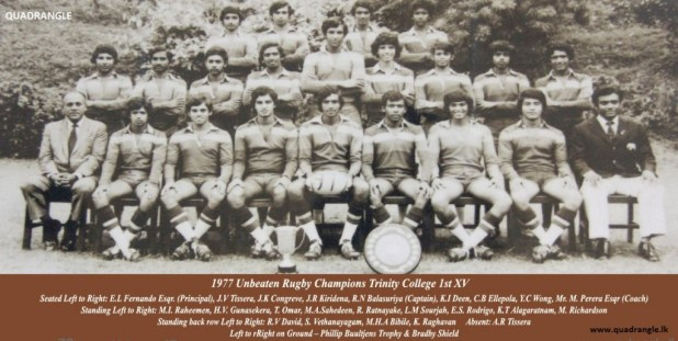 Trinity College Rugby 1st XV 1977