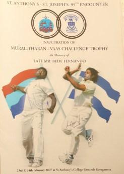 The inaugural Murali-Vass Trophy flyer