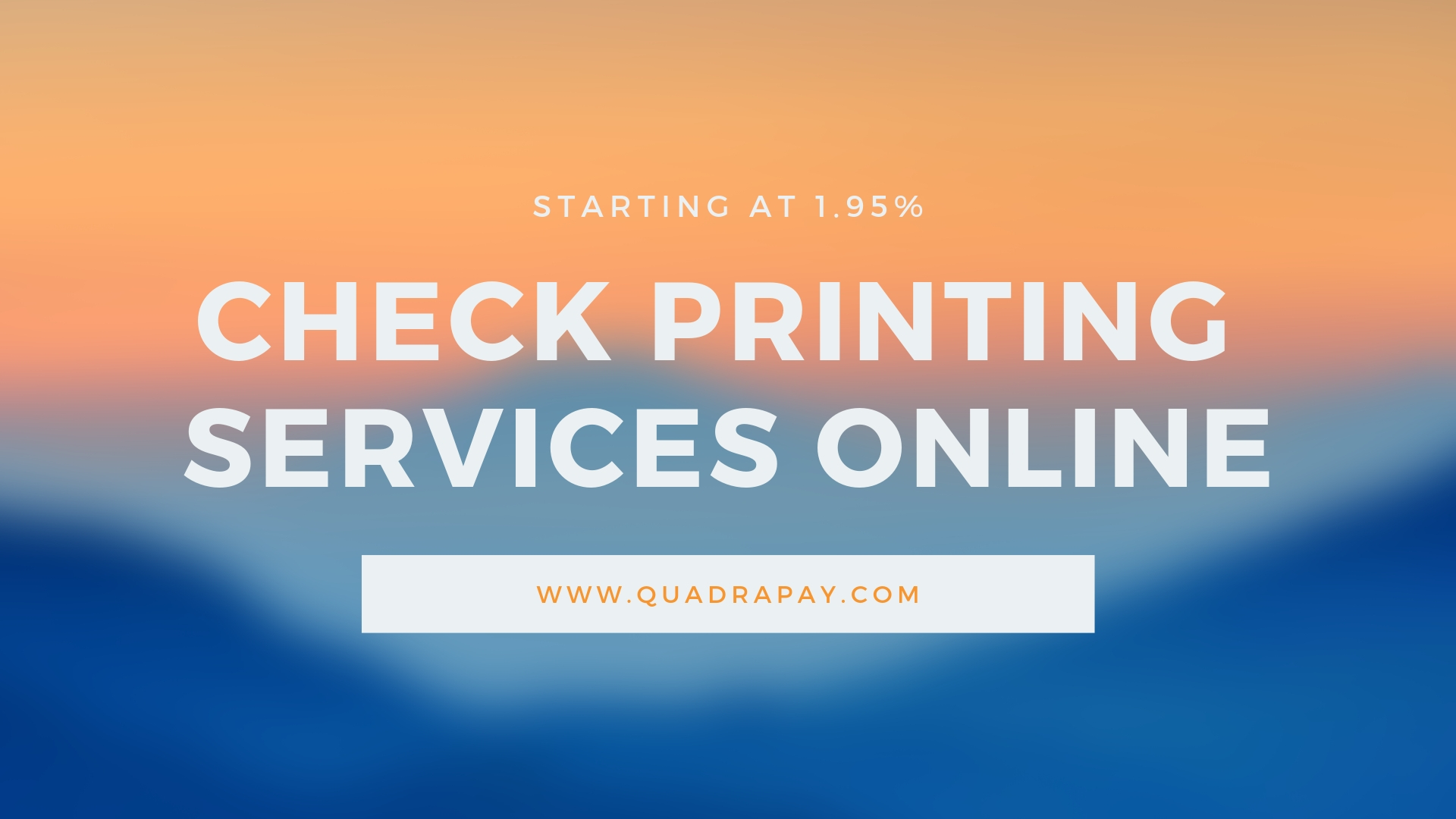 Check Printing Services Online
