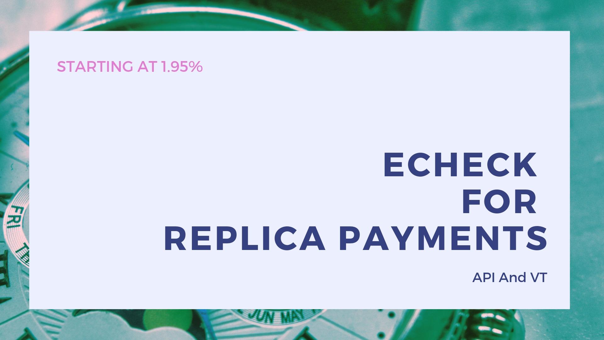 Replica Merchant Account