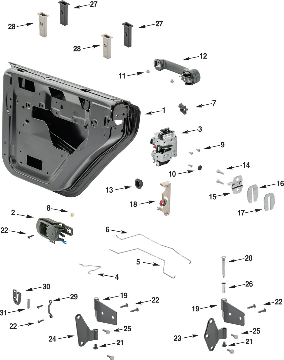 Jeep Wrangler Jk Parts Diagram : wrangler, parts, diagram, Wrangler, Steel, Parts, Quadratec
