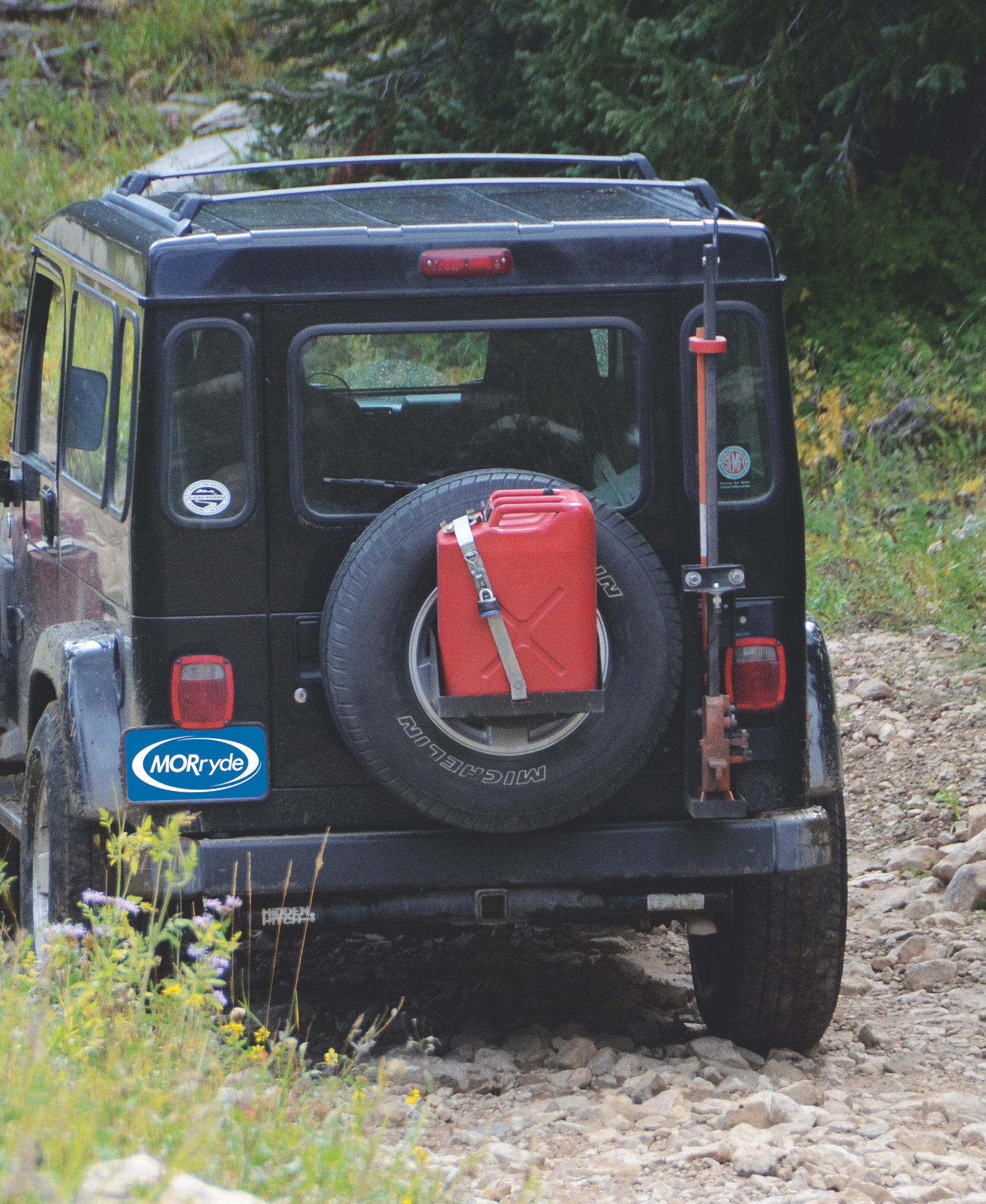 Spare Tire Jerry Can Mount : spare, jerry, mount, MORryde, JP54-005, Spare, Jerry, Mount, 87-18, Vehicles, Quadratec