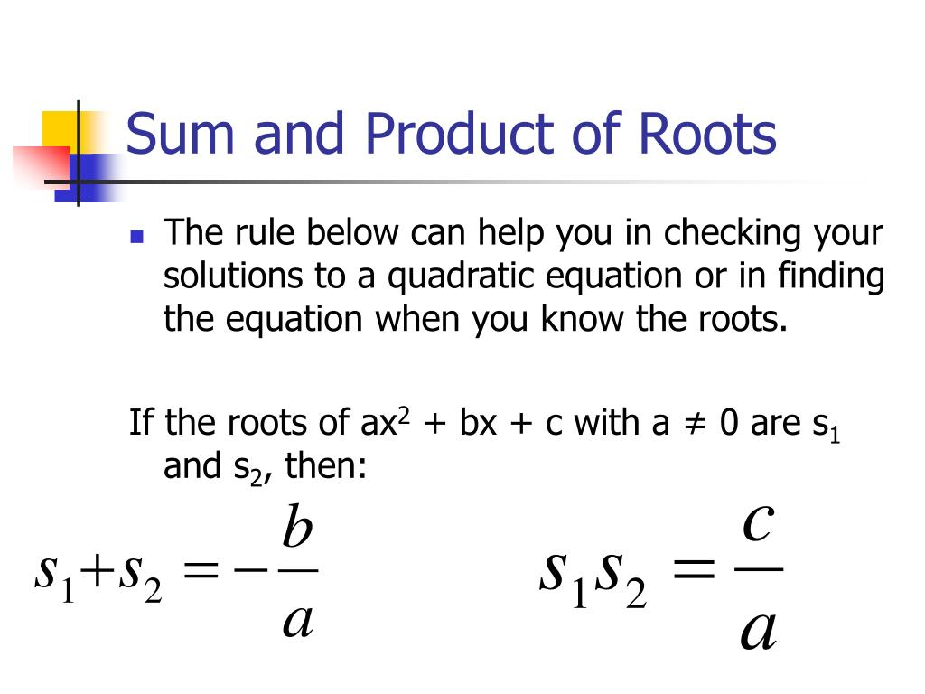 How To Find Roots From Quadratic Equation