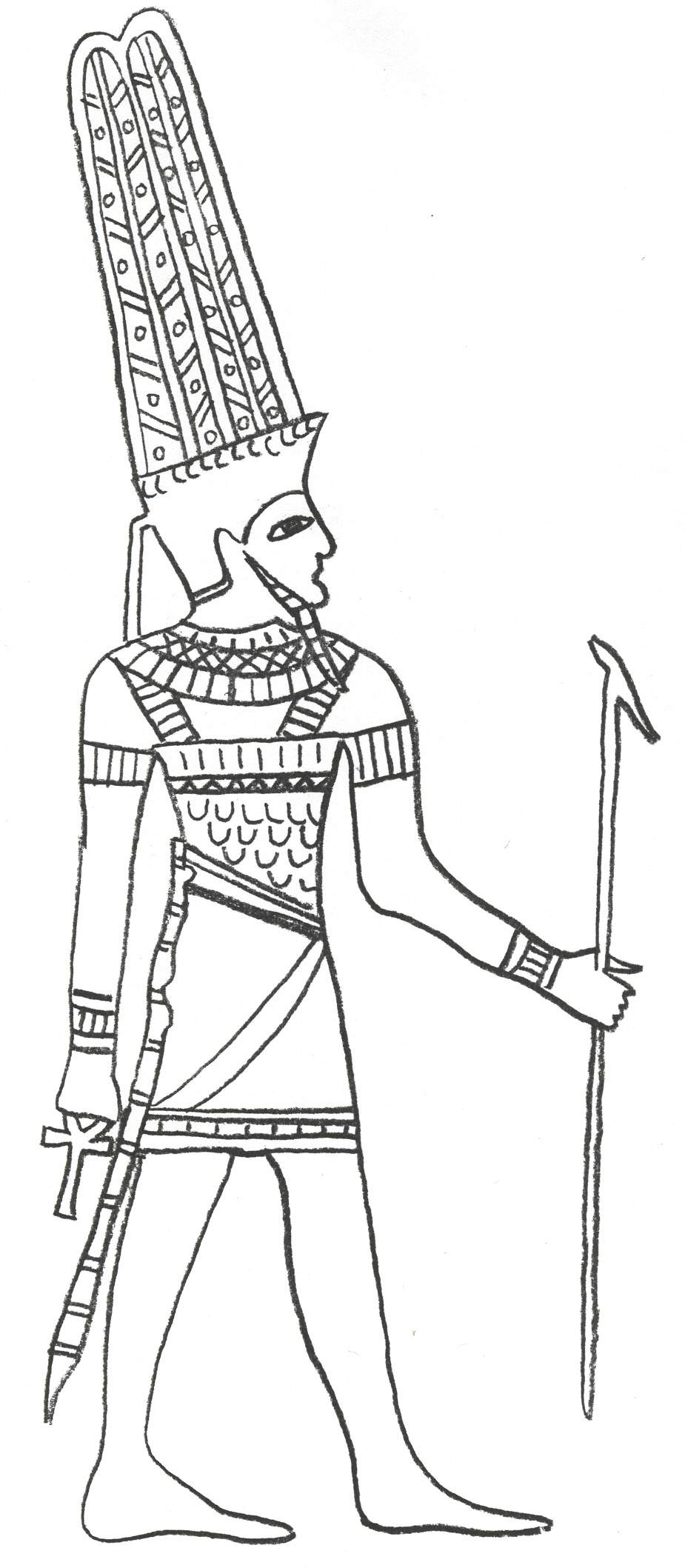 amon ra Colouring Pages