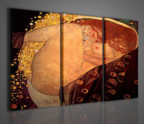 Quadri ModerniQuadri Pittori FamosiKlimt VI Danae  Stampe su tela quadri moderni per