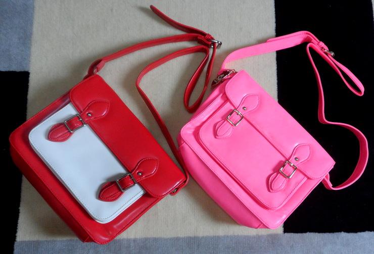 Bolsas Pink e Bicolor Romwe