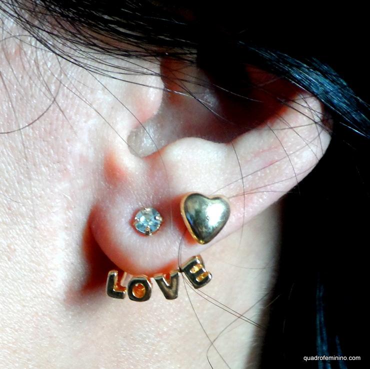 Brinco Heart&Love Romwe