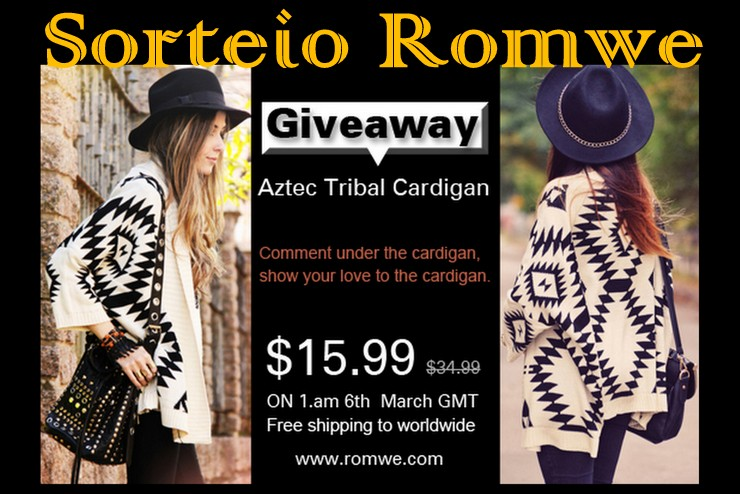 Romwe - Aztec Tribal Cardigan Giveaway