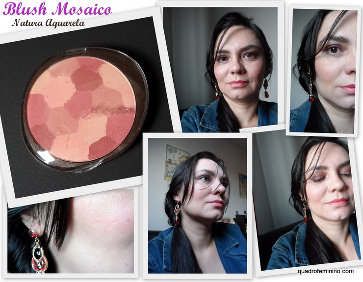 Blush Mosaico Rosado Natura Aquarela