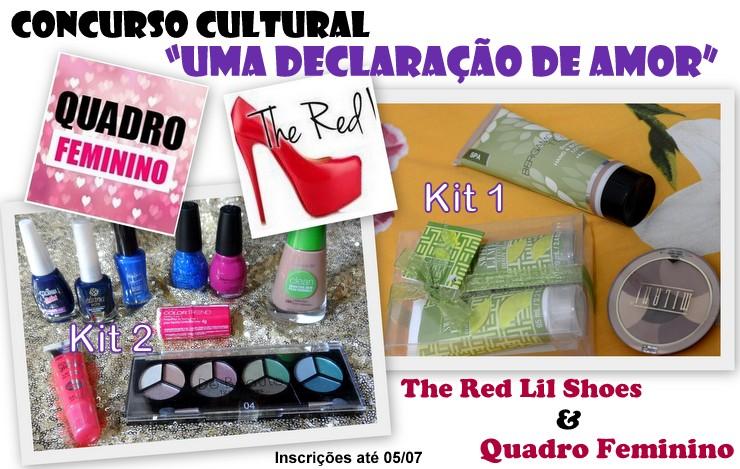 Concurso Cultural Quadro Feminino e The Red lil Shoes