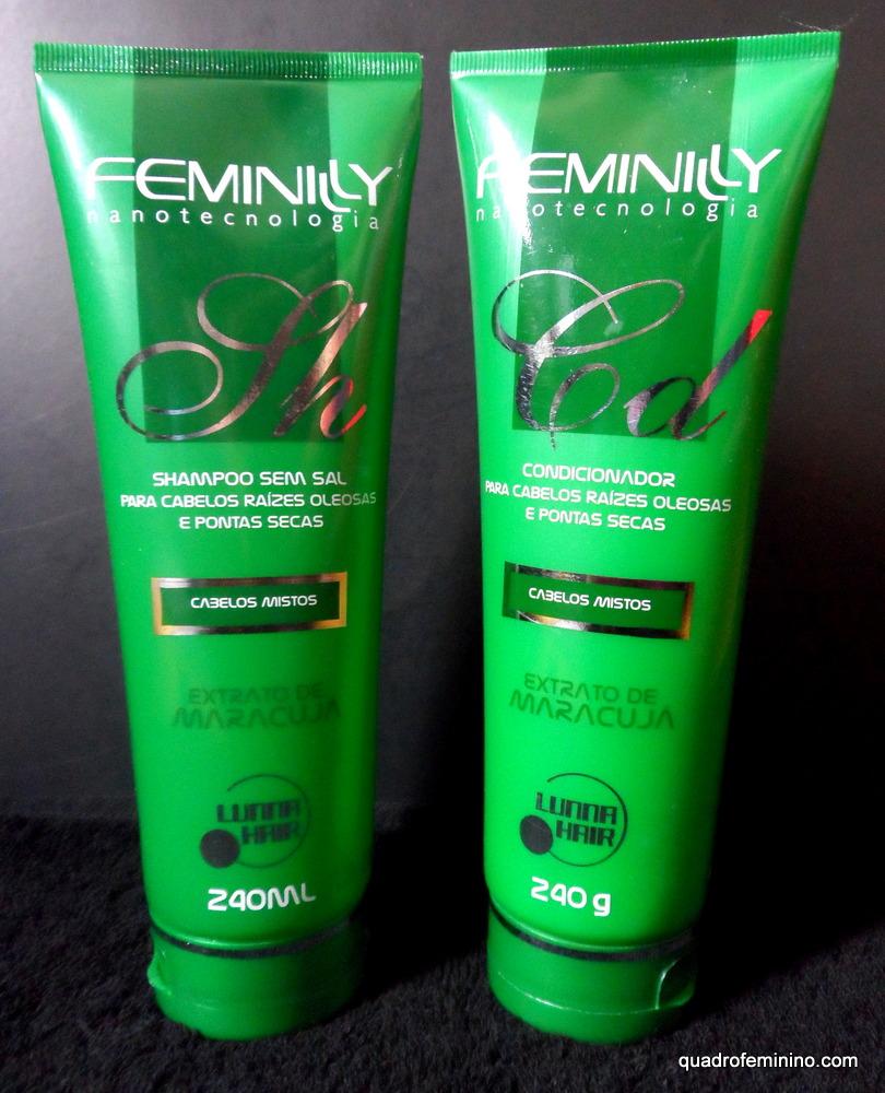 Shampoo e Condicionador Extrato de Maracujá Feminilly - Lunna Hair
