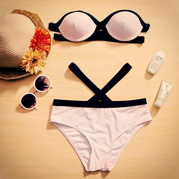 Slim Sexy White Bikini - Romwe