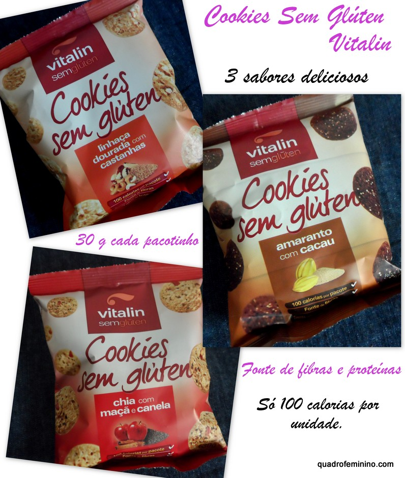 Cookies sem glúten Vitalin